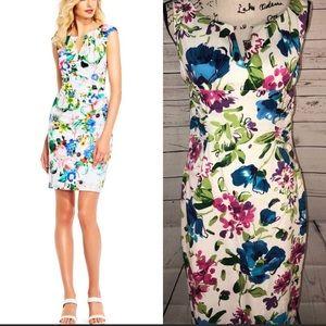 Adrianna Papell V-Neck Sheath Dress Size 8